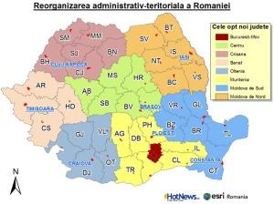 Regiuni Romania reimpartire Romania in 8 judete noi