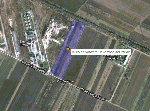 Teren de vanzare strada Depozitelor zona industriala a Devei
