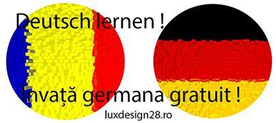 curs germana incepatori / banner limba germana / steaguri roman - german