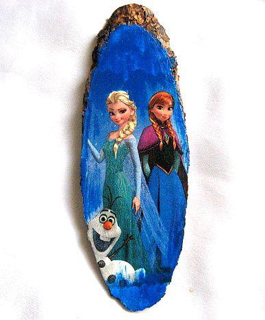 Desen animat Frozen, printesele Elsa si Anna, tablou trunchi de copac 28534